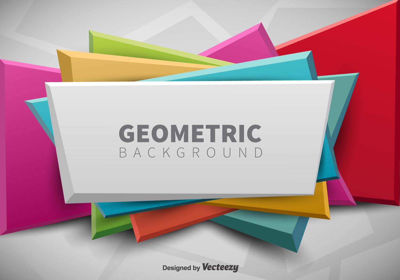 geometric banner vector