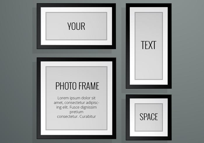 Realistic Photo Frame Vectors