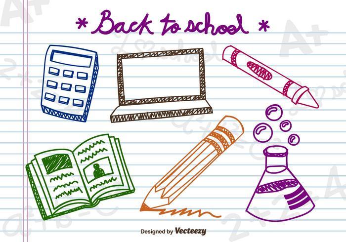 Doodle school elements