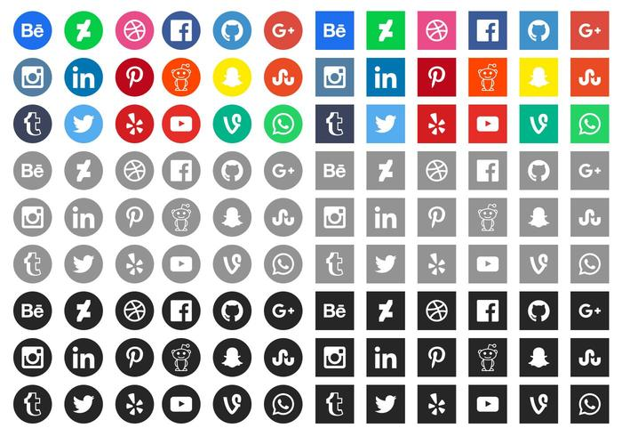 Kostenlose Social Media Icons