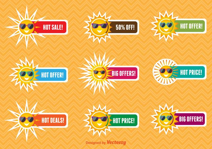 Etiquetas de venda de verão