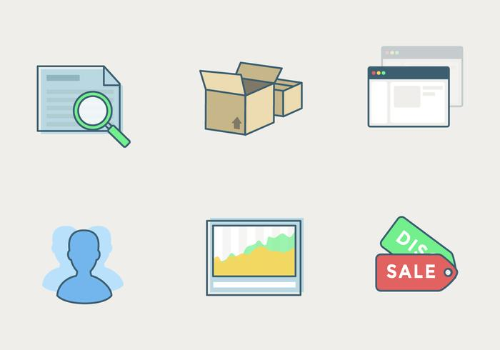 Vector Shop Icon Set