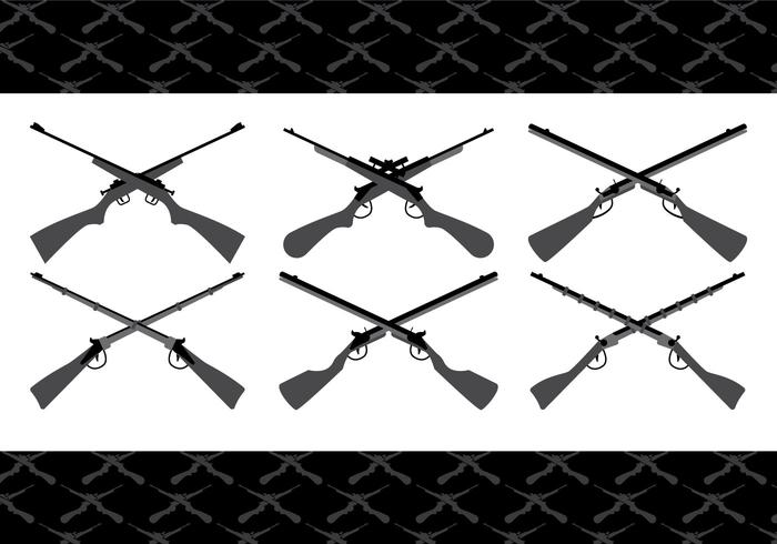 Crossed Gun Vectors
