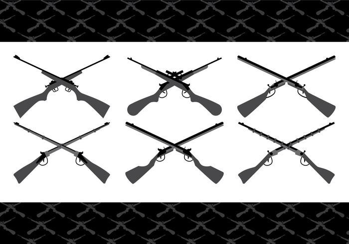Gekreuzte Gewehrvektoren vektor