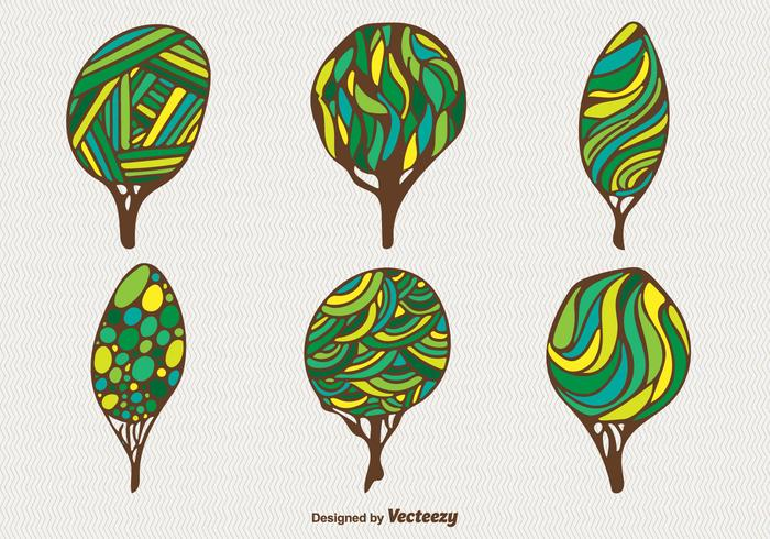 Cartoon green trees