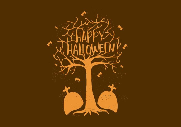 Free Vector Happy Halloween Wallpaper