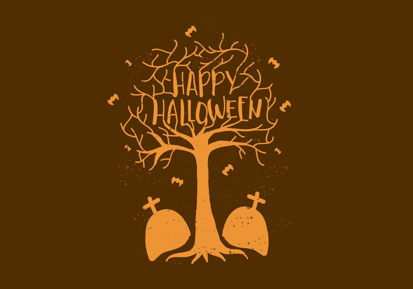 free vector happy halloween wallpaper - download free vector art