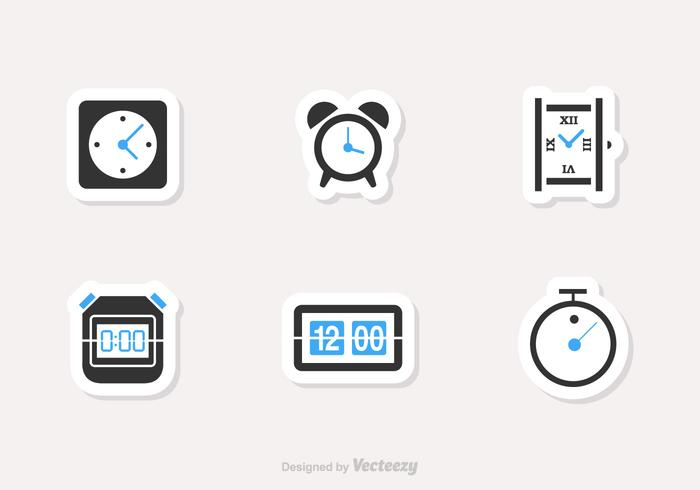 Free Time And Clock Vector Icons