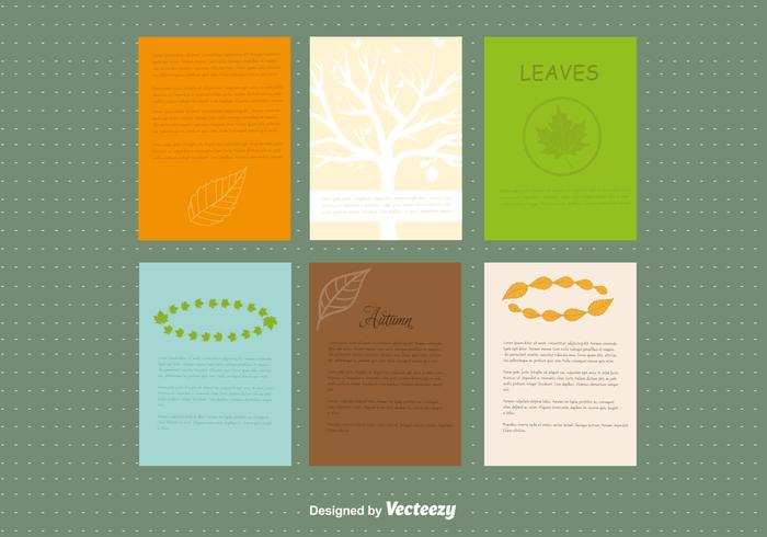 Autumn design leaflet