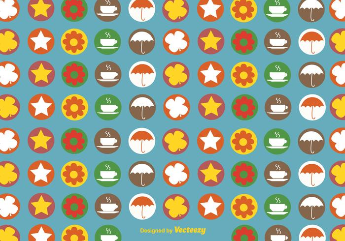 Autumnal icons pattern