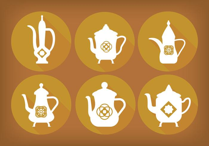 Arabic coffee pot Vectors