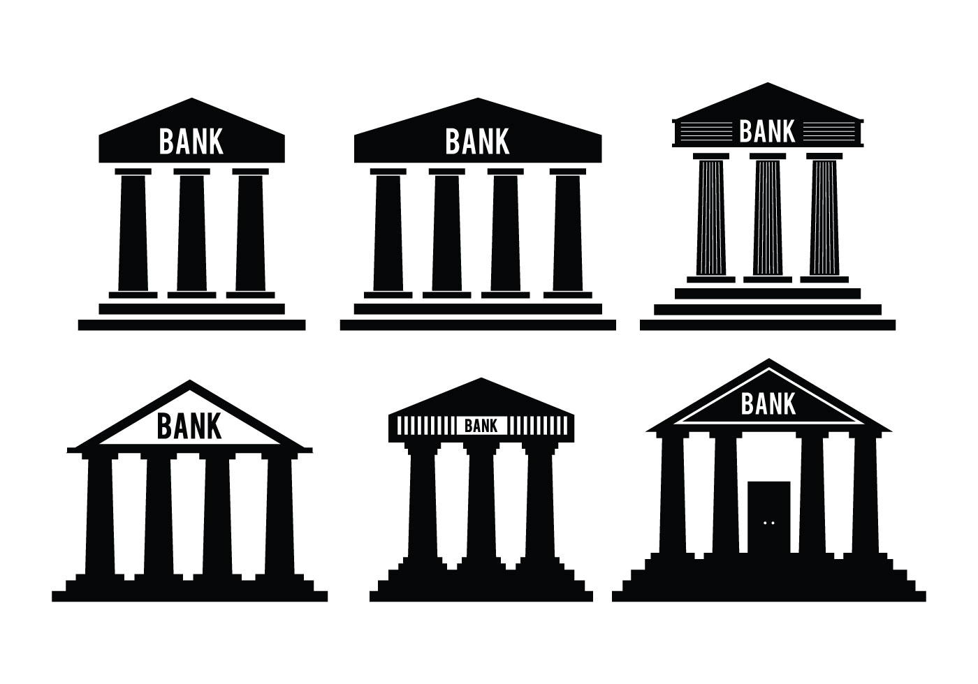 Bank icon vectors download free vector art stock graphics images biocorpaavc Gallery