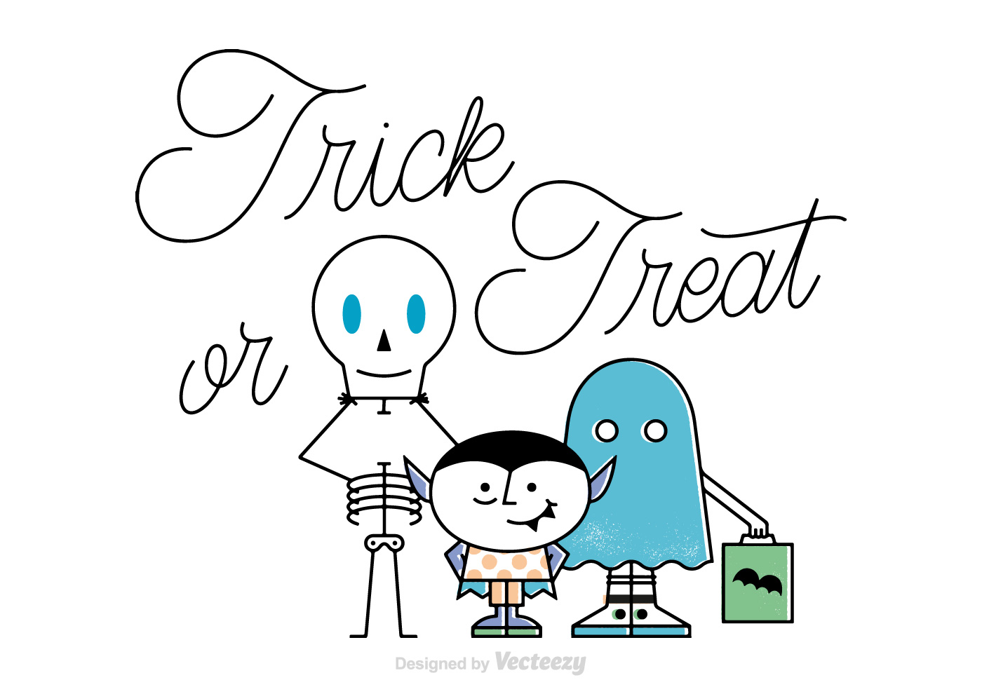 Free Vector Trick Or Treat Background - Download Free ...
