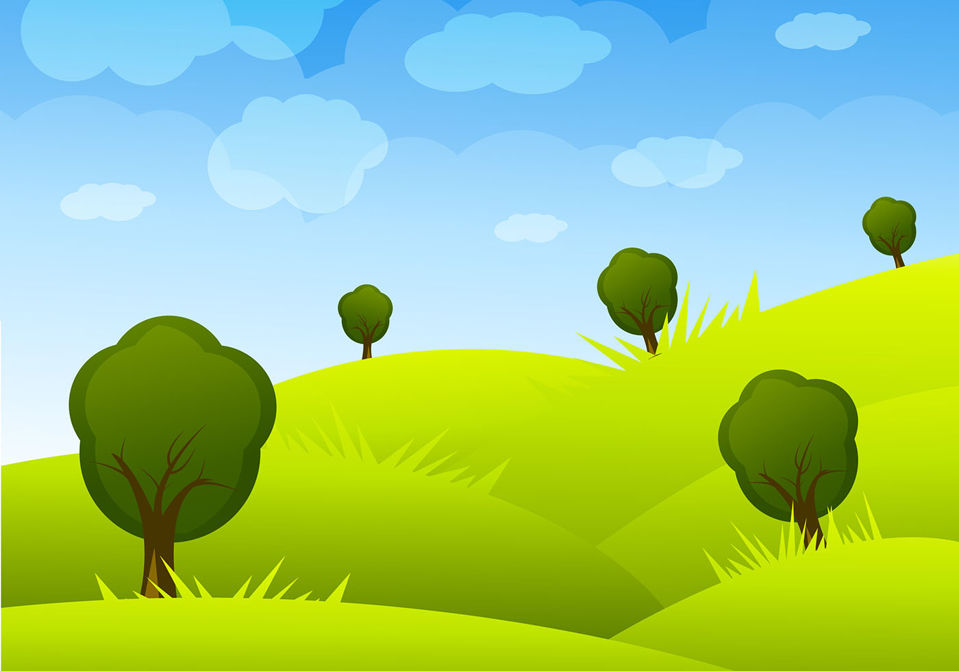 vector cartoon landscape backgroundsfree - photo #11