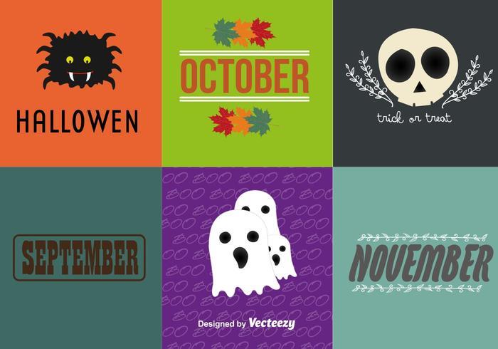 Halloween elementos de dibujos animados