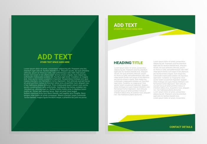 Green Brochure Template Design Download Free Vector Art Stock - Brochure templates download free