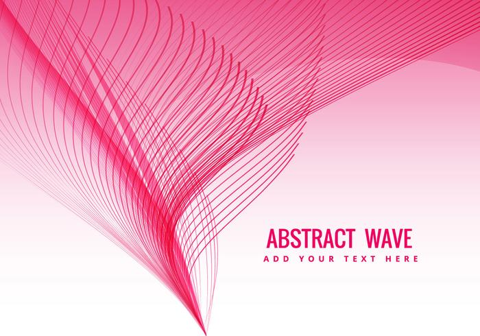 Pink wave flowing
