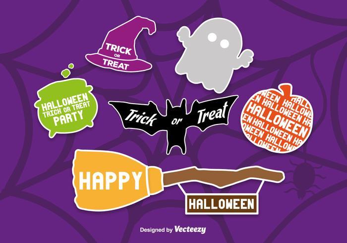 Iconos de Halloween del estilo del libro de recuerdos