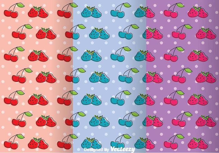 Fruits Girly Pattern Vectors