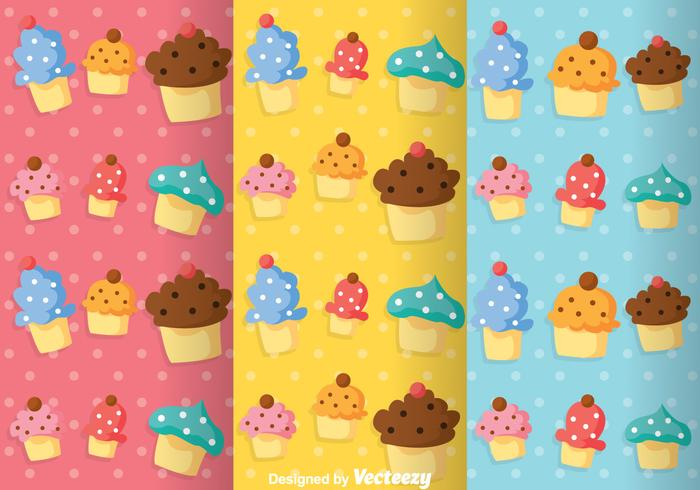 Cupcake Girly Pattern Vectors