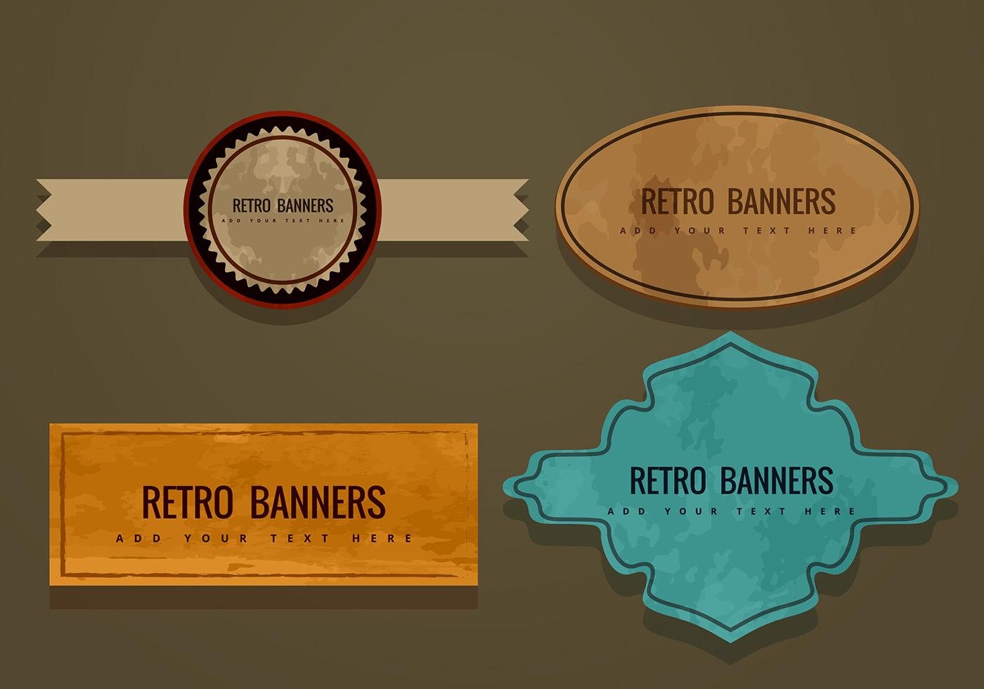 Retro Banner Vectors - Download Free Vectors, Clipart ...