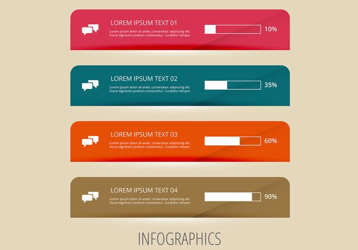 Infographic Loading Banner Vectors