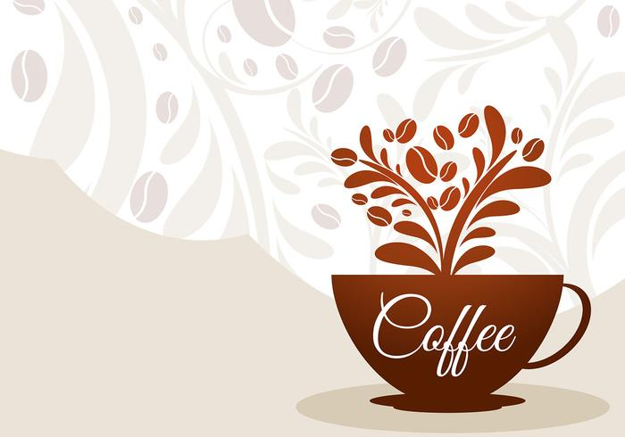 Coffee Cup Floral Vector