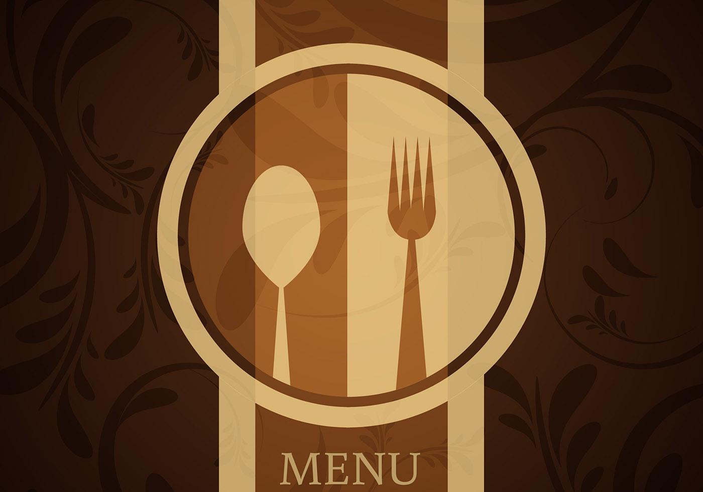 restaurant menu background vector set 04 free download