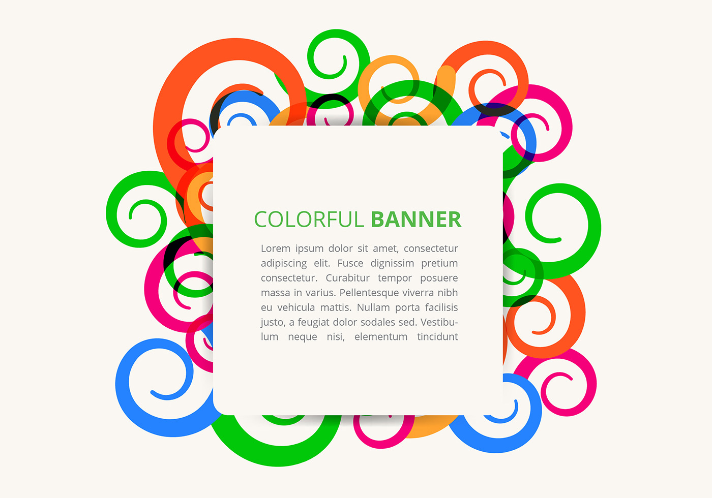 Color Abstract Vector Background Text Frame Stock Vector: Abstract Colorful Swirl Vector Frame