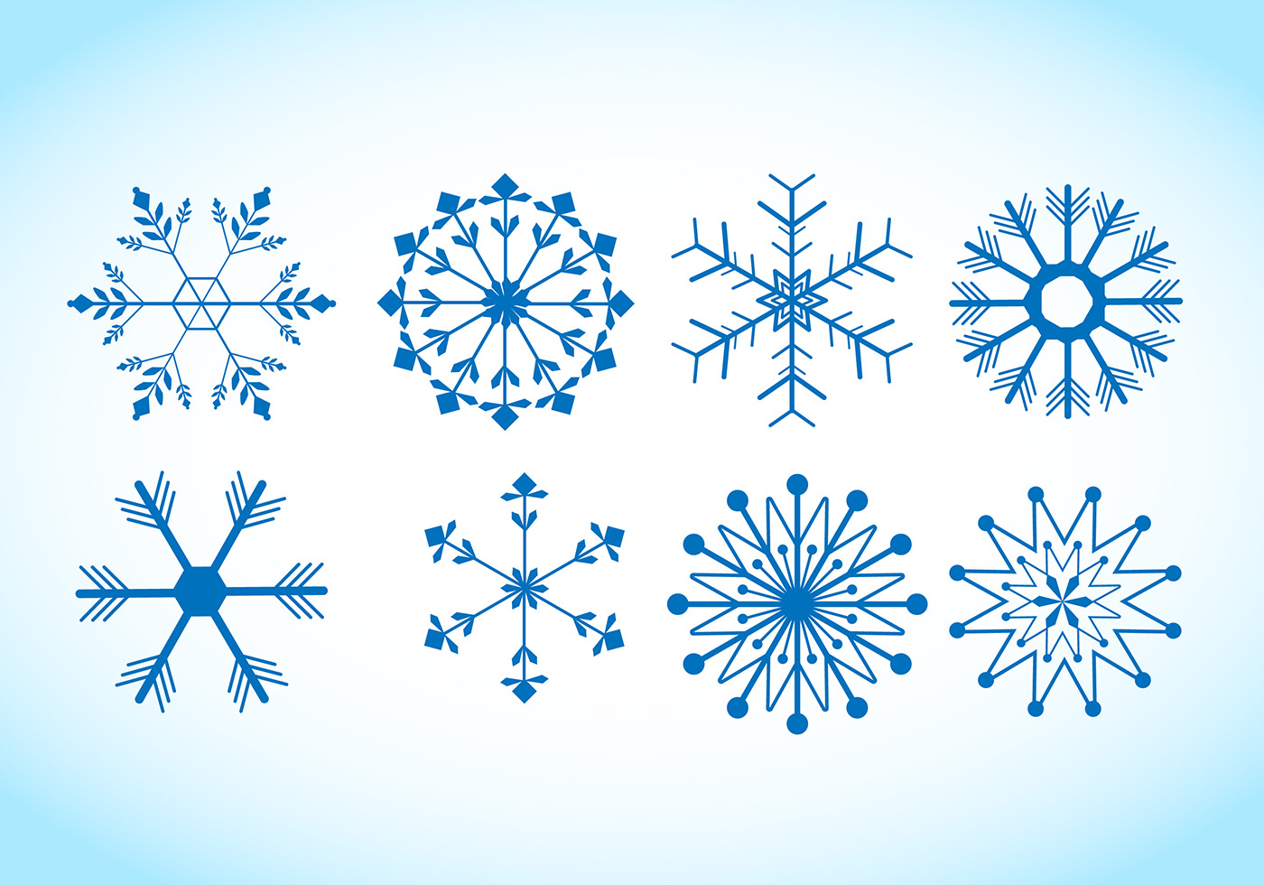 Snowflake Vectors - Download Free Vector Art, Stock ...