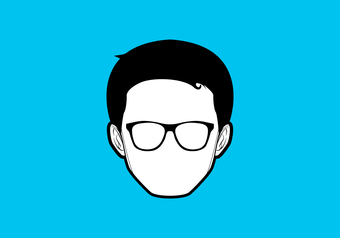 Simple Geek Vector Download Free Vector Art Stock