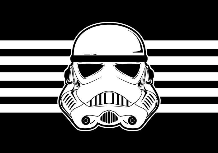 Star Wars Trooper casco de vectores