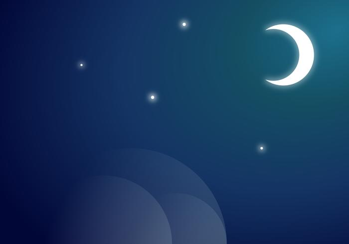Moon Vector Background