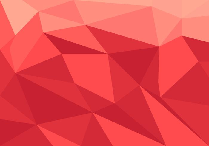 Red Low Poly Vector