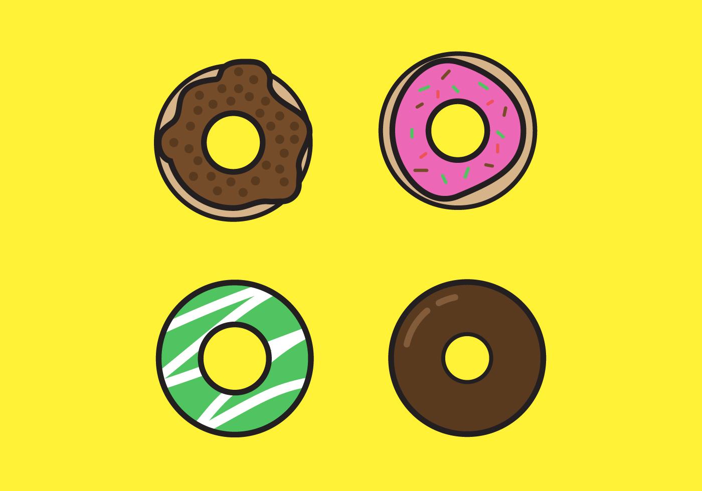 Sweet donut vectors download free vector art stock for Clipart gratis download