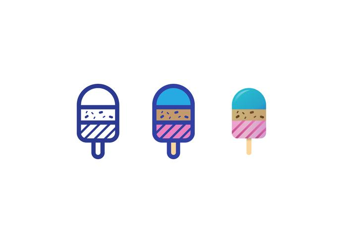 Vecteurs de crème glacée vecteur