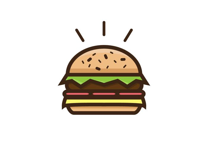 Thick Burger Vector