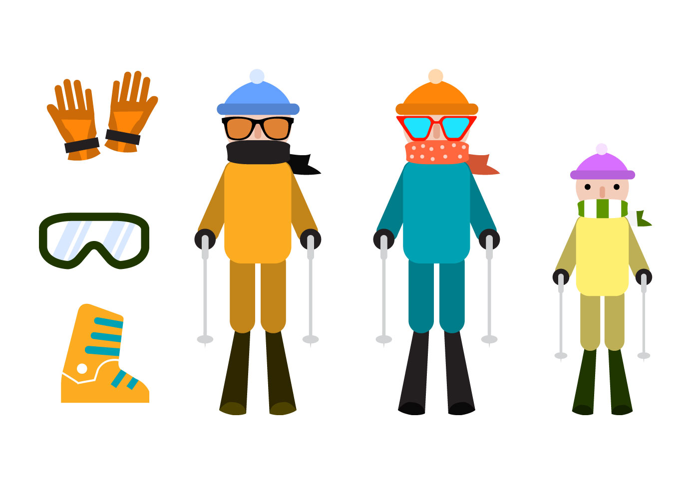 Skiing Vector Elements Download Free Vector Art Stock Graphics Amp Images