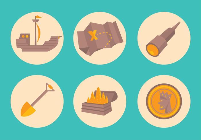 Conjunto de ícones do tesouro