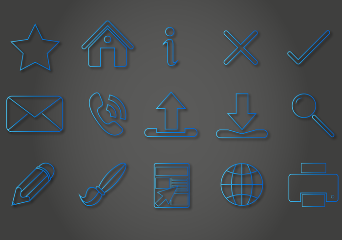Blue Line Icon Vectors