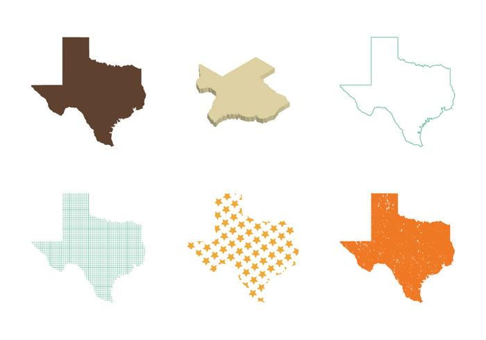 Vector do Mapa Texas Gratuito