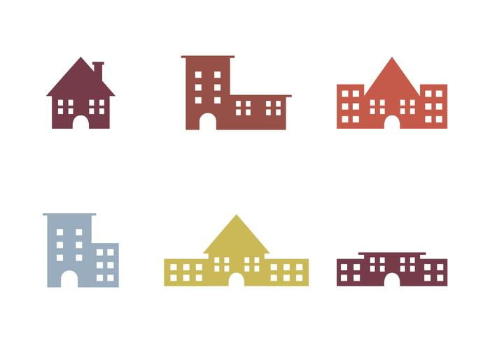 Libre Townhomes Vector Iconos