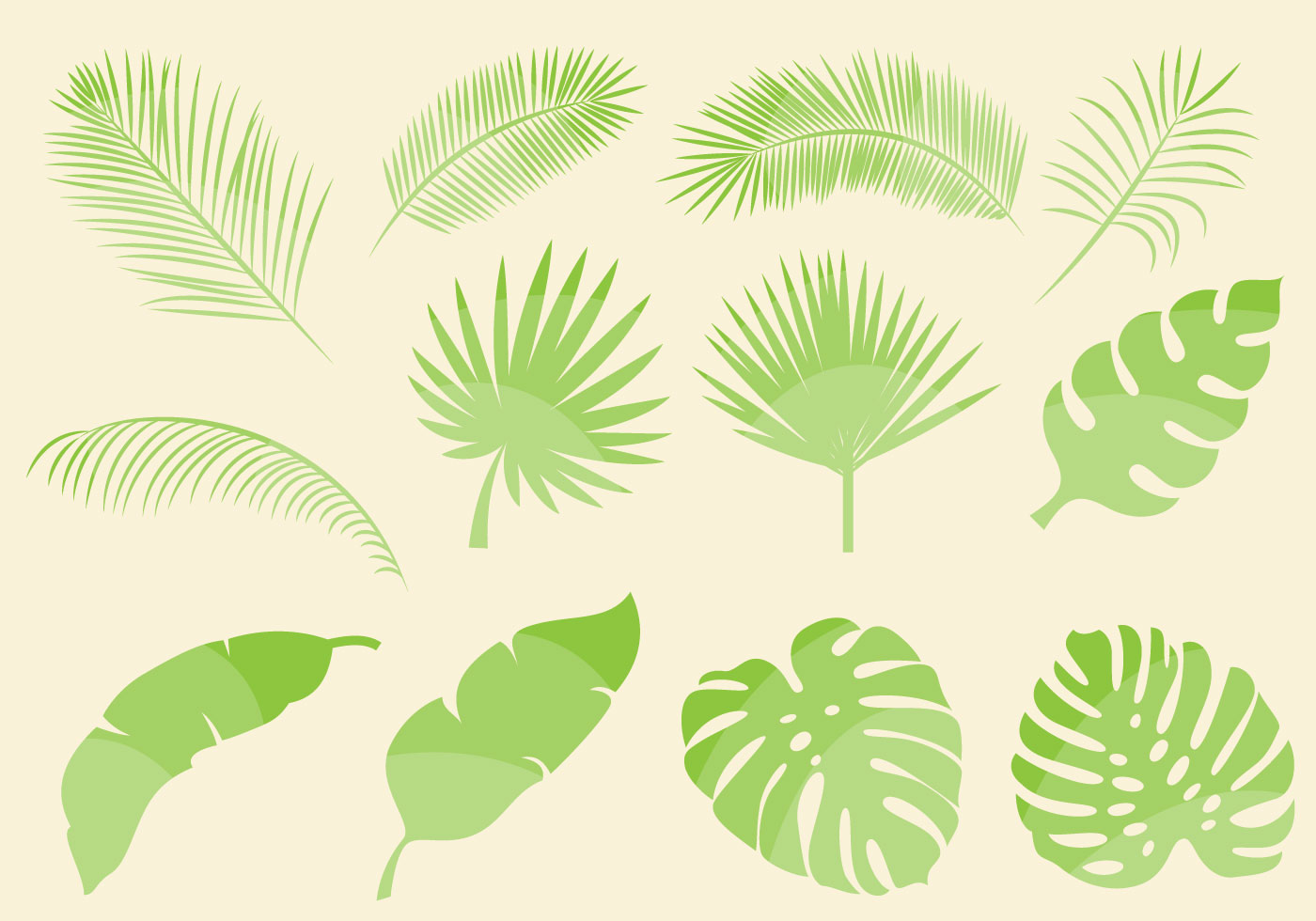 ... Download Free Vector Art, Stock Graphics ... Tropical Leaves Clip Art