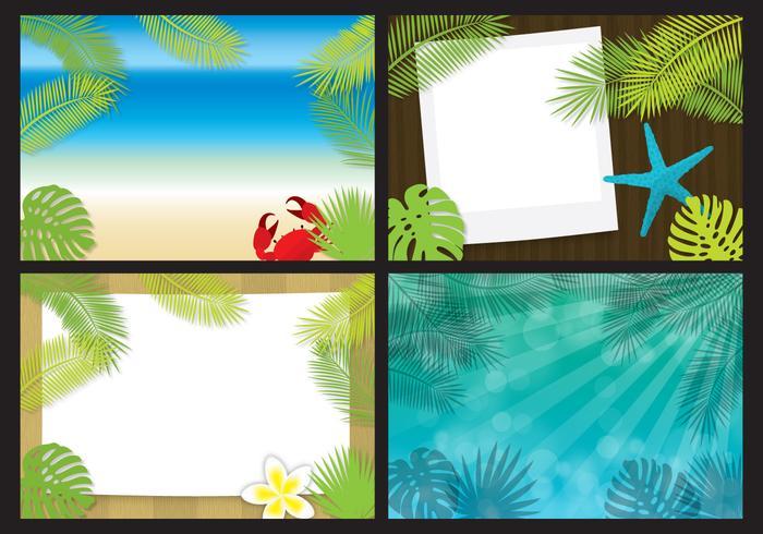 Vectores de la plantilla de la playa