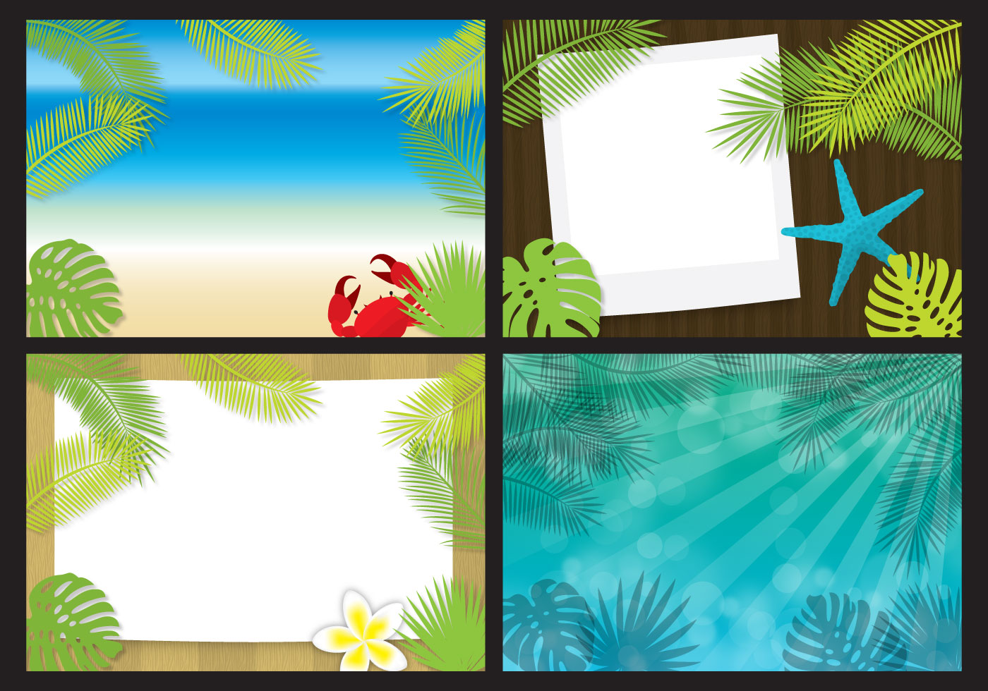 Beach Template Vectors - Download Free Vector Art, Stock