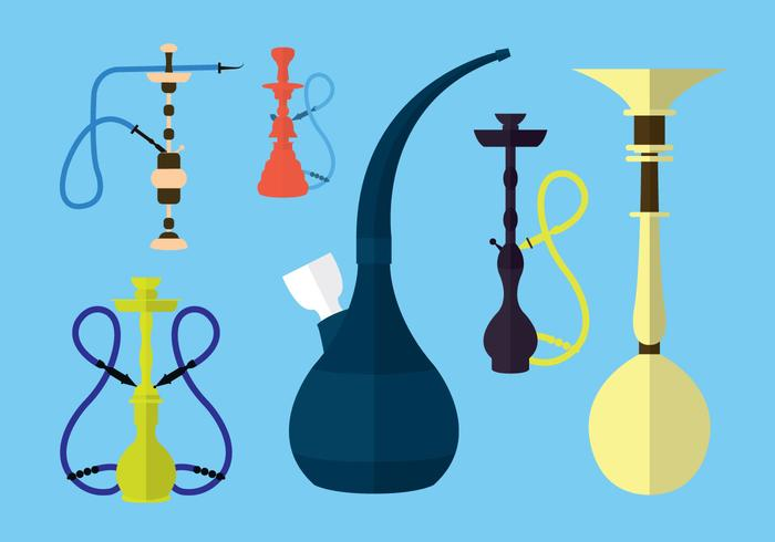 Collection de vecteur de hookah