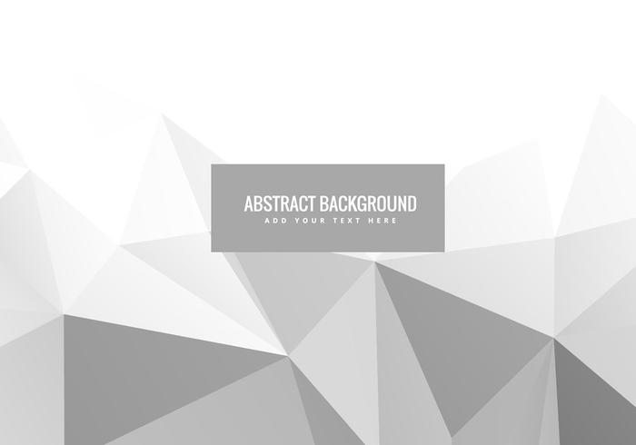 White abstract geometric vector