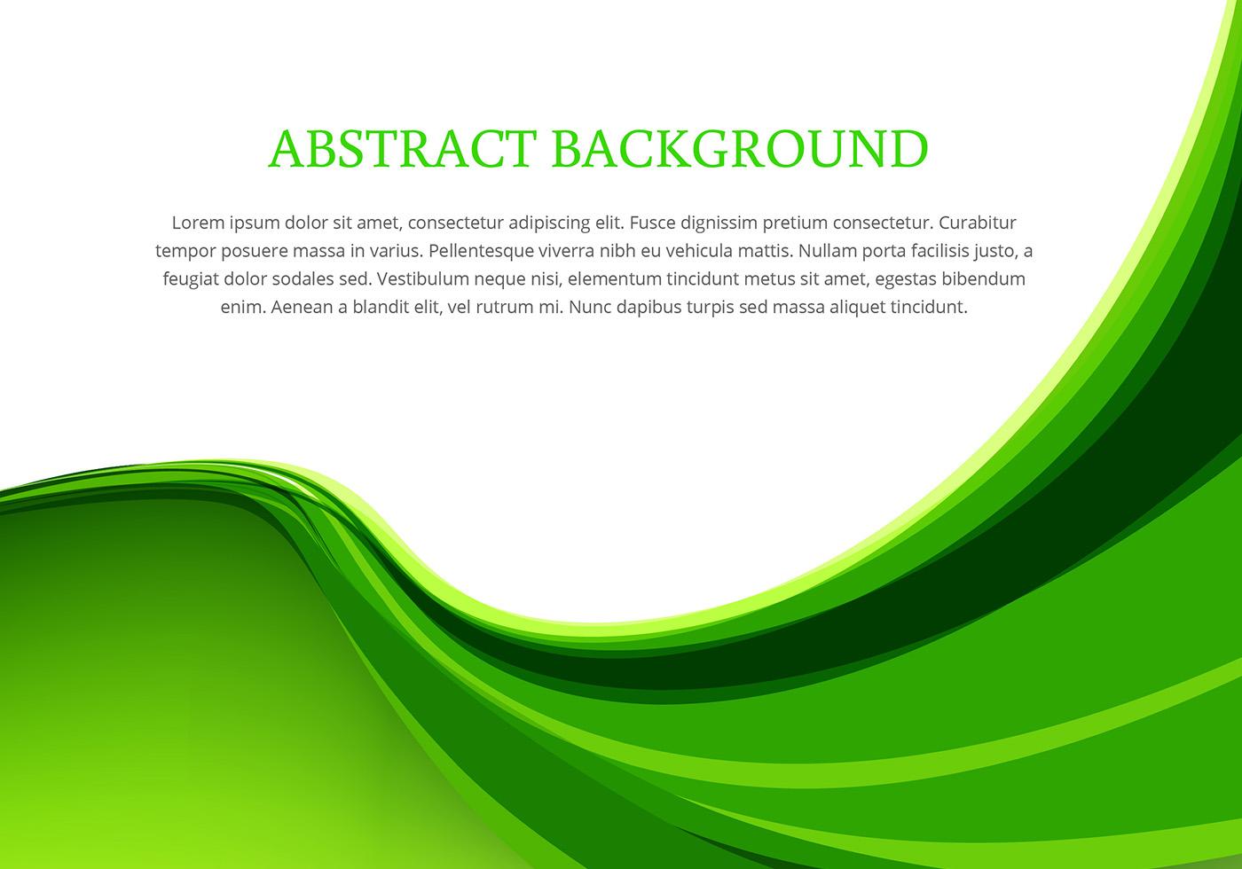 Green wave background design vector download free vector for Design grafik