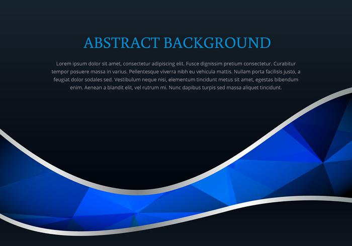 Polygonal style wave background vector