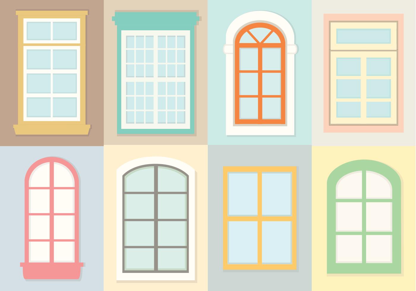 Decorative Windows Vectors Download Free Vector Art